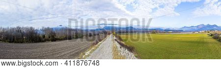 Landscape In The French Alpes Region Near Le Mees, France