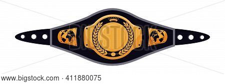 Vector Mixed Martial Arts Title Champion Belt Isolated On White Background. Trophy Award For Boxing,