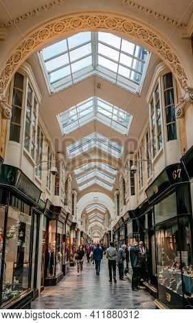 London, Uk - September 20 2018: The Burlington Arcade. It Is A Covered Shopping Arcade, That Runs Be
