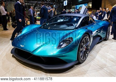 Aston Martin Vanquish Vision Mid-engine Supercar Concept Car At The 89th Geneva International Motor
