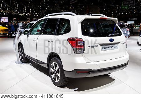 Subaru Forester Car At The 89th Geneva International Motor Show. Geneva, Switzerland - March 6, 2019