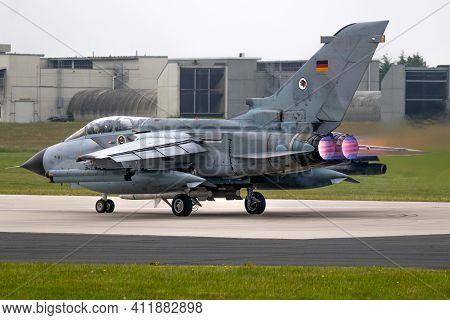 Jagel, Germany - Jun 12, 2019: Tlg-51 German Air Force Panavia Tornado Fighter Bomber Jet Plane Taki