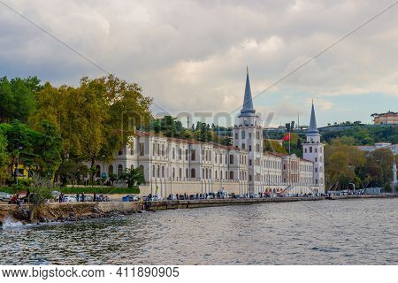 Istanbul, Turkey - October 6, 2019: The Building Of The Kuleli Military High School In Istanbul, Tur