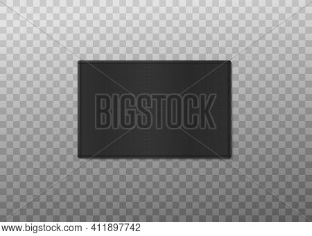 Black Clothing Label With Copy Space Realistic Vector Illustration Isolated.