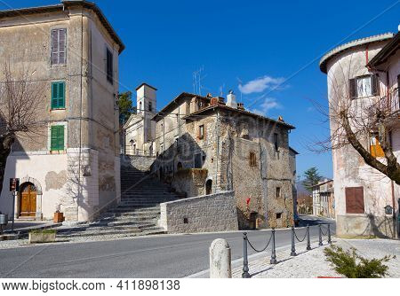 Orvinio, Glimpse Of The Ancient Village. Rieti, Italy.