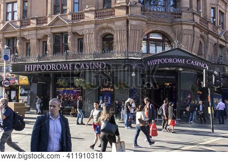London, Uk - 20 September 2020, Famous London Hippodrome Casino. London Hippodrome Was Built In 1900
