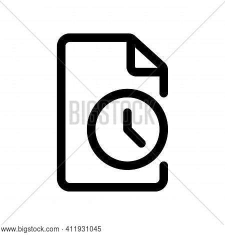 Duration Of The Document Or Contract Outline Icon Isolated On White Background.