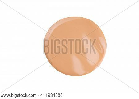 Beige Liquid Powder, Concealer Drop. Makeup Nude Foundation, Tone Cream Smear Smudge Swatch Isolated