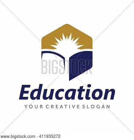 Book Logo Design. Education Logo Design Vector