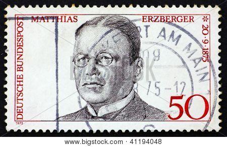 Postage Stamp Germany 1975 Matthias Erzberger