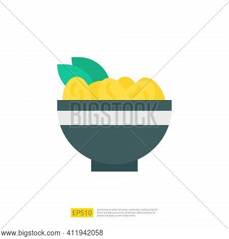 Dates Meal Iftar For Muslim And Ramadan Theme Concept. Vector Illustration