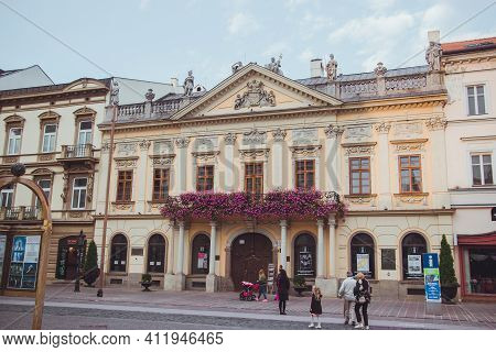 Kosice, Slovakia - September, 2016: Old Town Hall Is A Building Of The Late 18th Century In The Baro