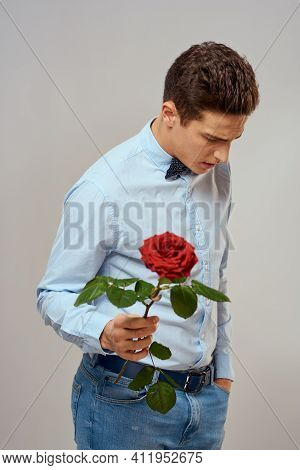 Man Holding A Rose Dating Waiting Dating Lifestyle