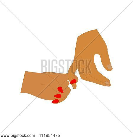 Pinky Promise Hands On Clean White Backdrop