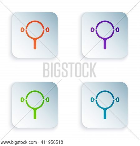 Color Filter Wrench Icon Isolated On White Background. The Key For Tightening The Bulb Filter Trunk.
