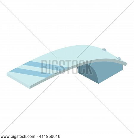 Glass Diving Board Icon. Isometric Of Glass Diving Board Vector Icon For Web Design Isolated On Whit