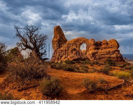 The Usa Southwest Arches National Parks Are Located In Eastern Utah, North Of The City Of Moab In Th