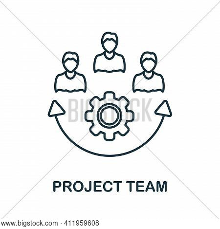Project Team Icon. Simple Element From Team Building Collection. Creative Project Team Icon For Web