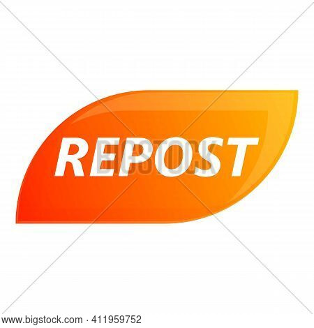 Repost App Icon. Cartoon Of Repost App Vector Icon For Web Design Isolated On White Background