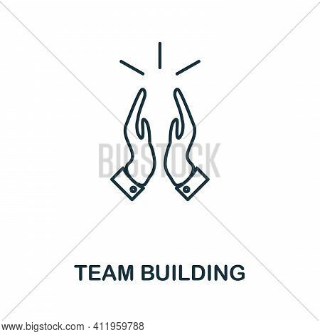 Team Building Icon. Monochrome Simple Team Building Icon For Templates, Web Design And Infographics