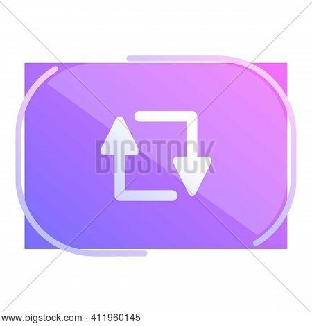 Repost Media Icon. Cartoon Of Repost Media Vector Icon For Web Design Isolated On White Background