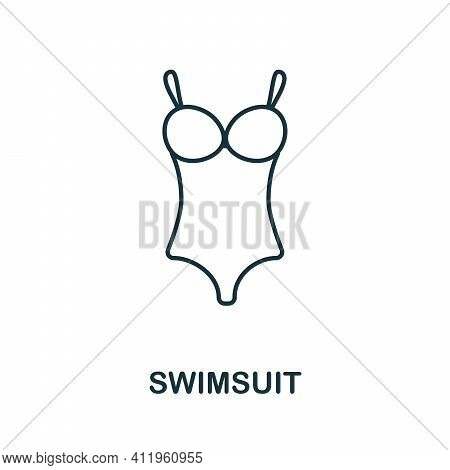 Swimsuit Icon. Simple Illustration From Vacation Collection. Creative Swimsuit Icon For Web Design,