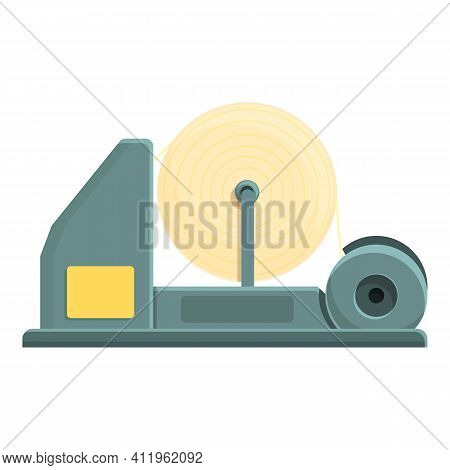 Machinery Paper Production Icon. Cartoon Of Machinery Paper Production Vector Icon For Web Design Is