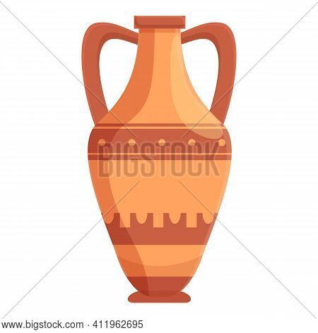 Amphora Archeology Icon. Cartoon Of Amphora Archeology Vector Icon For Web Design Isolated On White