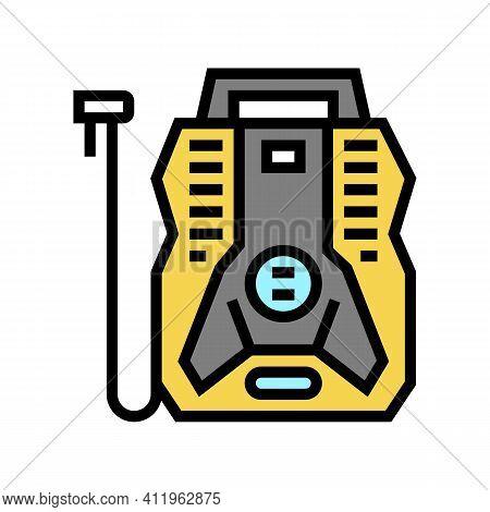 Portable Air Compressor Color Icon Vector. Portable Air Compressor Sign. Isolated Symbol Illustratio