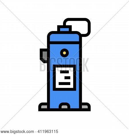 Industrial Air Compressor Color Icon Vector. Industrial Air Compressor Sign. Isolated Symbol Illustr