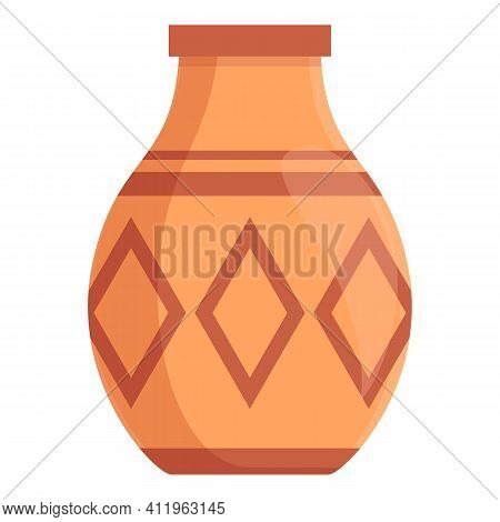 Amphora Culture Icon. Cartoon Of Amphora Culture Vector Icon For Web Design Isolated On White Backgr