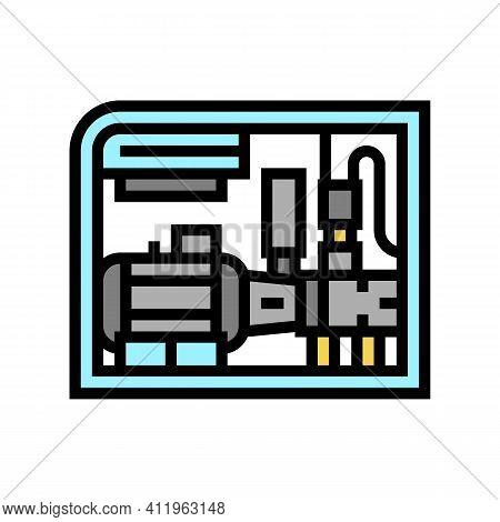 Screw Air Compressor Color Icon Vector. Screw Air Compressor Sign. Isolated Symbol Illustration