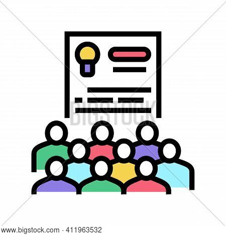 User Agreement Crowdsoursing Color Icon Vector. User Agreement Crowdsoursing Sign. Isolated Symbol I
