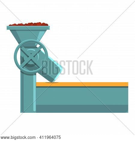 Coffee Production Mill Icon. Cartoon Of Coffee Production Mill Vector Icon For Web Design Isolated O