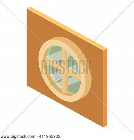 Circular Window Icon. Isometric Illustration Of Circular Window Vector Icon For Web