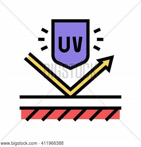 Ultra Violet Uv Protect Layer Color Icon Vector. Ultra Violet Uv Protect Layer Sign. Isolated Symbol