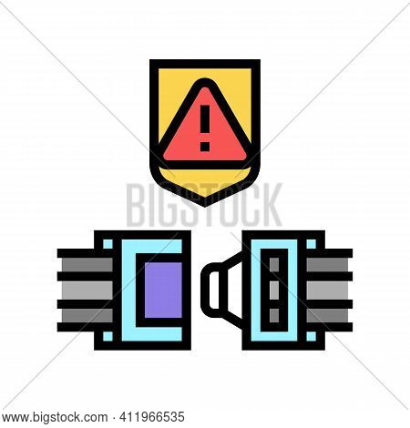 Wire Cable Protect Color Icon Vector. Wire Cable Protect Sign. Isolated Symbol Illustration