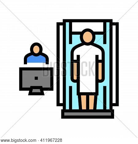 Hospital Cabinet Radiology Color Icon Vector. Hospital Cabinet Radiology Sign. Isolated Symbol Illus