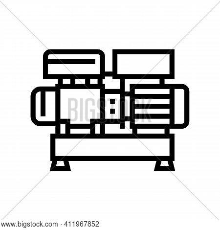 Centrifugal Air Compressor Line Icon Vector. Centrifugal Air Compressor Sign. Isolated Contour Symbo
