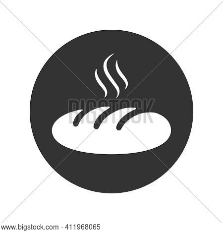 Hot Loaf Graphic Icon. Sign Of Loaf In The Circle Isolated On White Background. Bakery Symbol. Vecto
