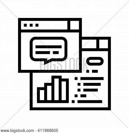 Tasks Hierarchy Digital Processing Line Icon Vector. Tasks Hierarchy Digital Processing Sign. Isolat