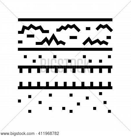 Underground Drainage System Line Icon Vector. Underground Drainage System Sign. Isolated Contour Sym