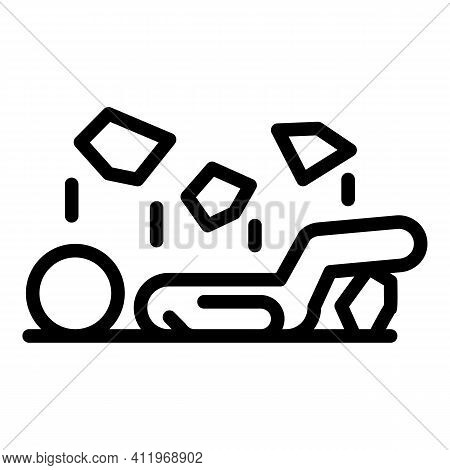 Office Careless Person Icon. Outline Office Careless Person Vector Icon For Web Design Isolated On W