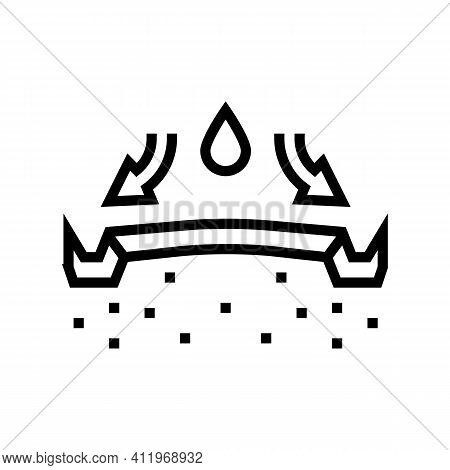 Highway Drainage System Line Icon Vector. Highway Drainage System Sign. Isolated Contour Symbol Blac