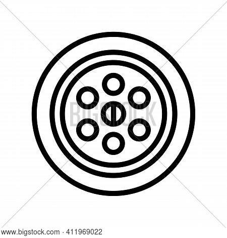 Sink Drainage Hole Line Icon Vector. Sink Drainage Hole Sign. Isolated Contour Symbol Black Illustra