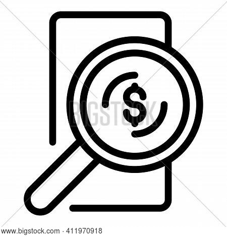 Search Target Audience Icon. Outline Search Target Audience Vector Icon For Web Design Isolated On W