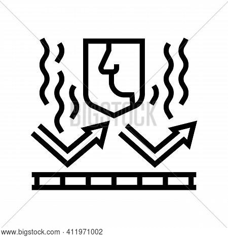 Smell Protect Layer Line Icon Vector. Smell Protect Layer Sign. Isolated Contour Symbol Black Illust