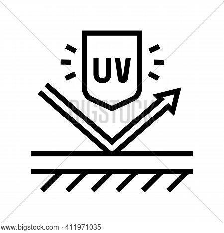 Ultra Violet Uv Protect Layer Line Icon Vector. Ultra Violet Uv Protect Layer Sign. Isolated Contour