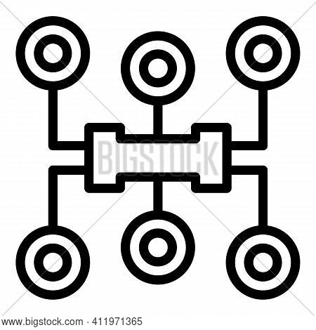 Digital Target Audience Icon. Outline Digital Target Audience Vector Icon For Web Design Isolated On