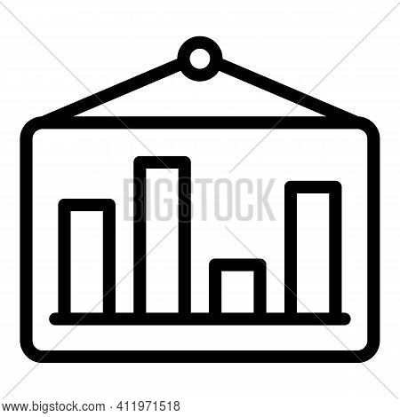 Banner Target Audience Icon. Outline Banner Target Audience Vector Icon For Web Design Isolated On W
